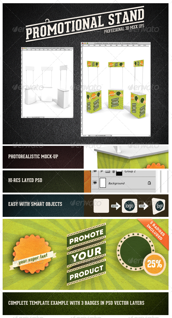 Promotional Stand Mock-up - Miscellaneous Displays