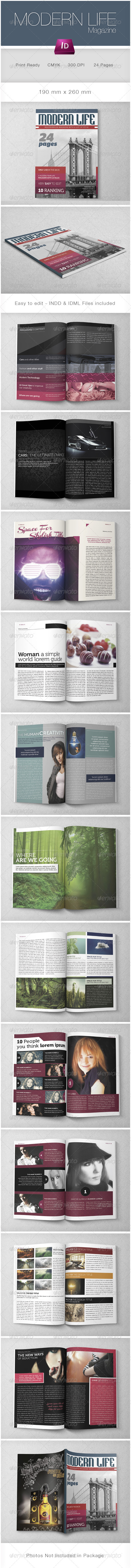 Modern Life Multipurpose Magazine - Magazines Print Templates
