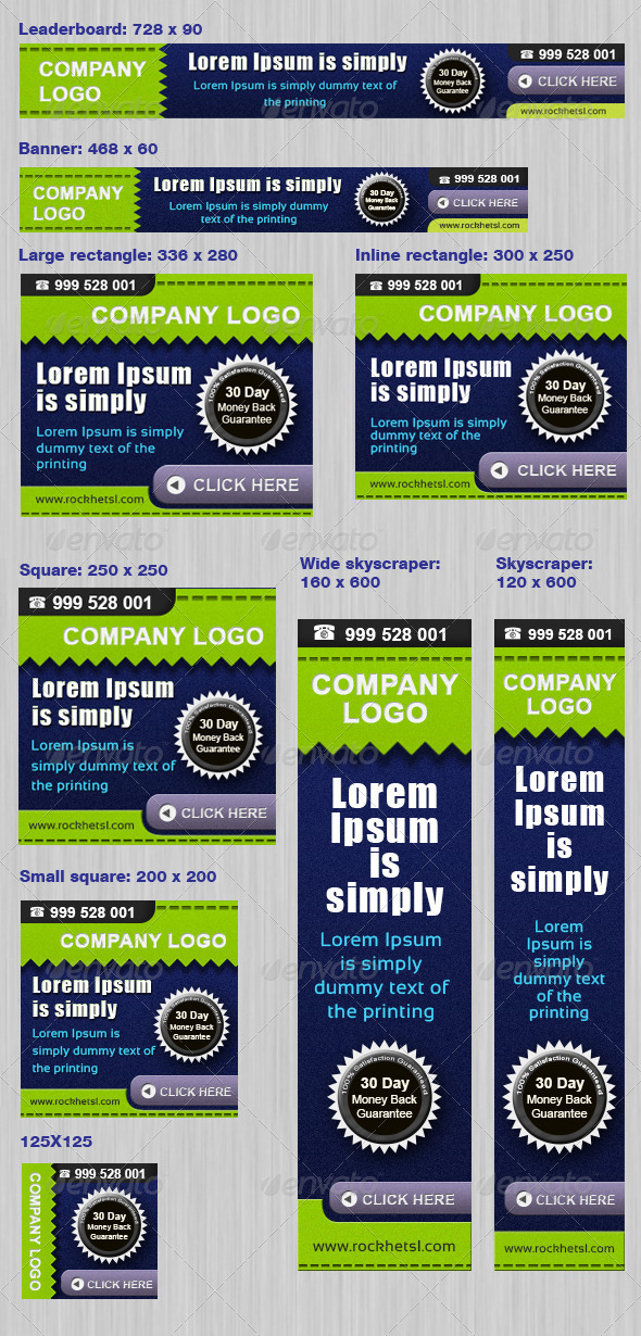 Modern Banner Set  - Banners & Ads Web Elements