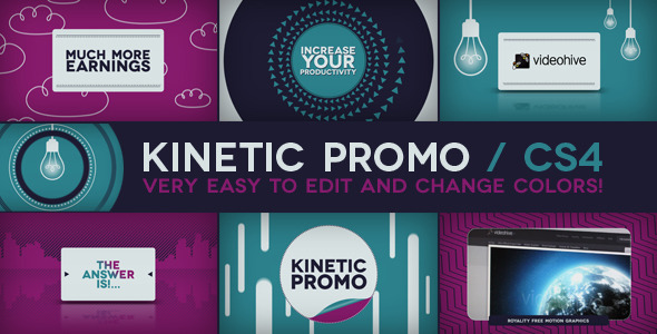After Effects Project - VideoHive Kinetic Promo 3002865