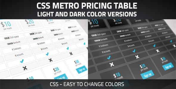 CodeCanyon Clean Pricing Table 3002897