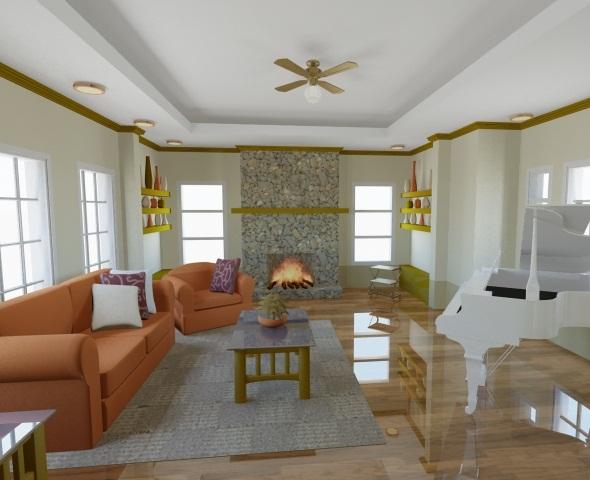 3DOcean living room 106362