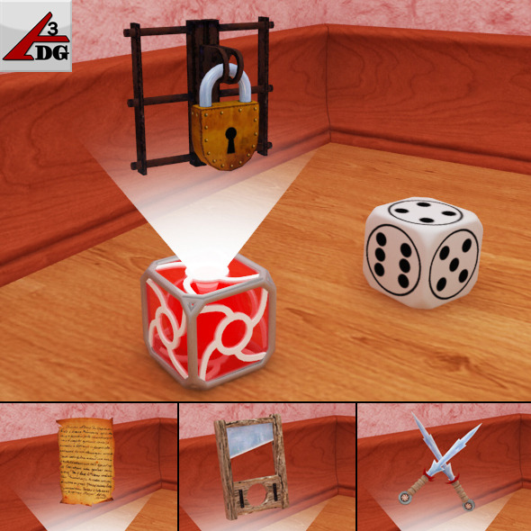 virtual dice - 3DOcean Item for Sale