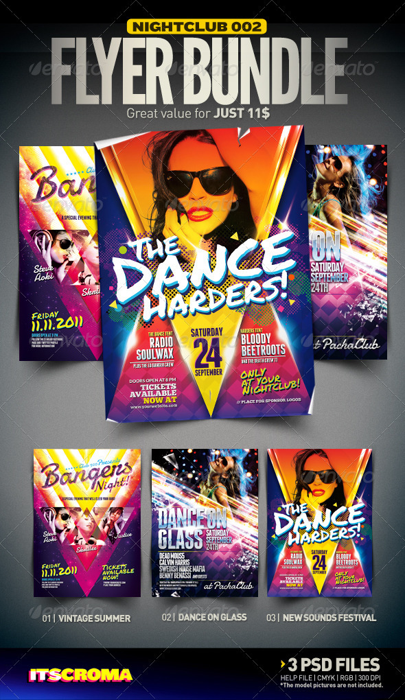 Nightclub Flyer Bundle | 002 - Clubs & Parties Events