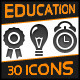 Education, School Icons - GraphicRiver Item for Sale