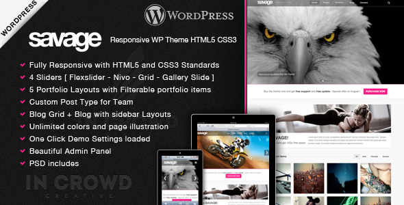 Savage - Responsive Wordpress Theme