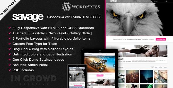 Savage - Responsive Wordpress Theme