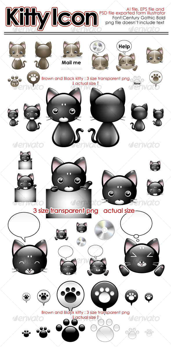 Kitty Icon - Animals Characters