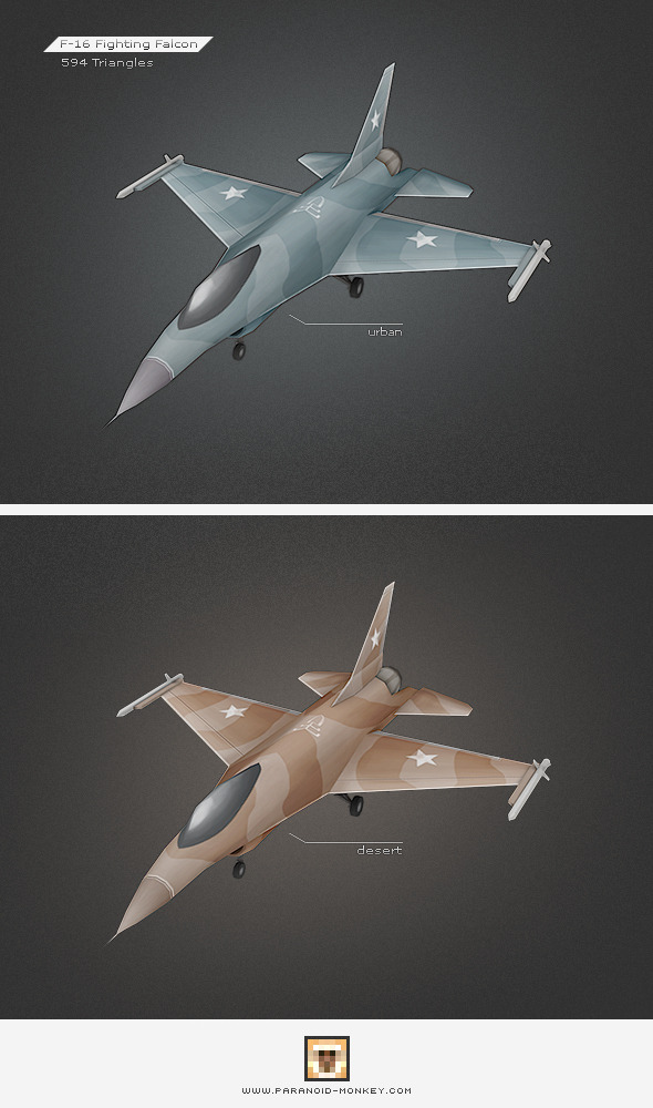 F-16 Fighting Falcon - 3DOcean Item for Sale