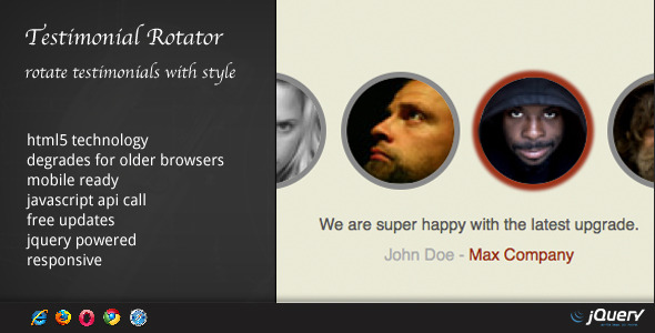DZS Testimonial Rotator jQuery powered