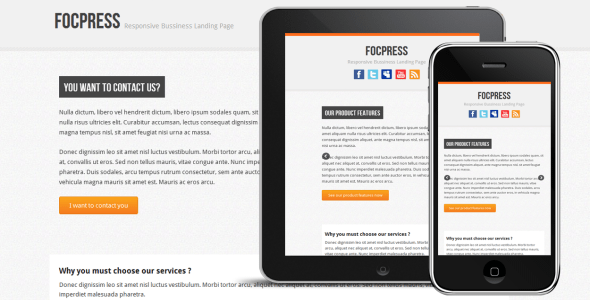 Focpress Responsive Bussiness Landing Page