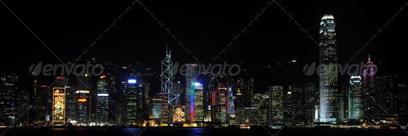 PhotoDune Hong Kong by night 260416