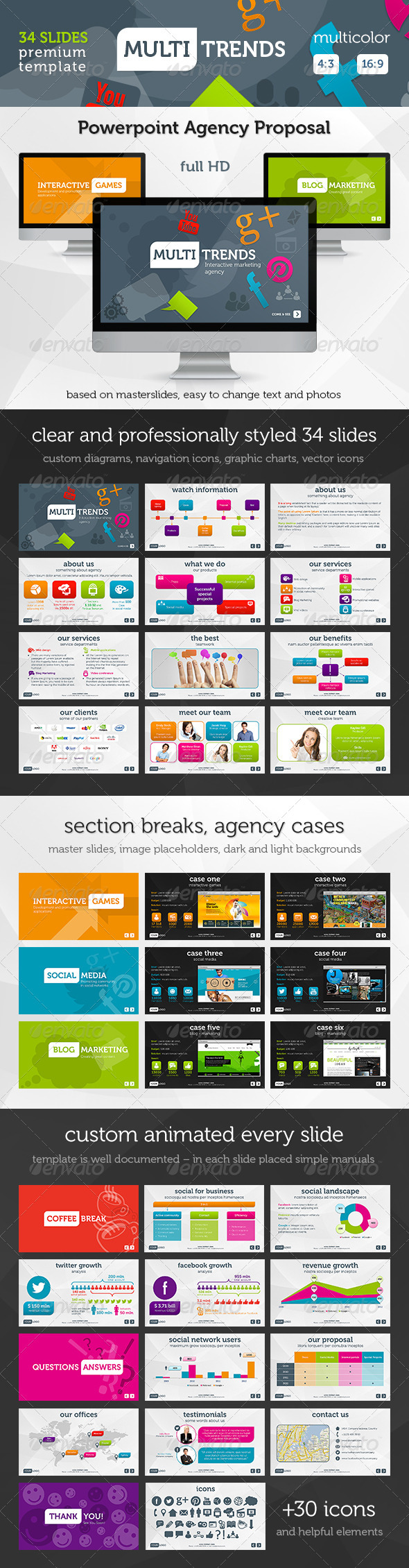 GraphicRiver Multi Trends PowerPoint Presentation Template 3004922