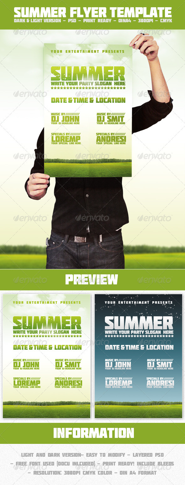 GraphicRiver Summer Flyer Template 308912