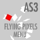 Flying Pixels Horizontal Menu - AS3 - ActiveDen Item for Sale