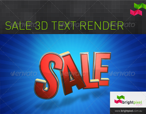 Sale 3D Text Graphic - Text 3D Renders