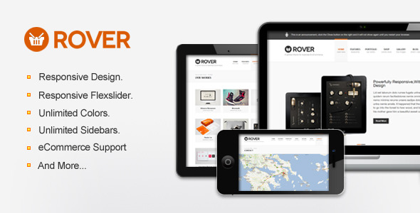 Rover Business & eCommerce WordPress Theme - The theme preview image.