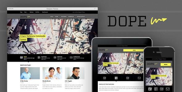 Dope, a Responsive WordPress Portfolio Theme