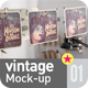 Indie Vintage Poster Mock-Up  - GraphicRiver Item for Sale