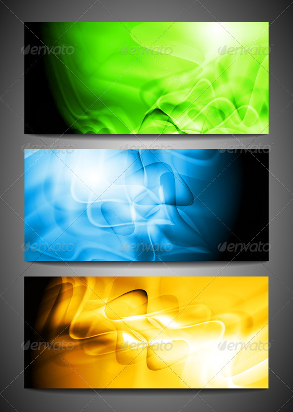 Wave abstract banners - Backgrounds Decorative