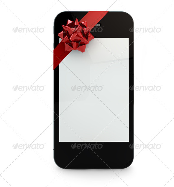 phone gift - Stock Photo - Images
