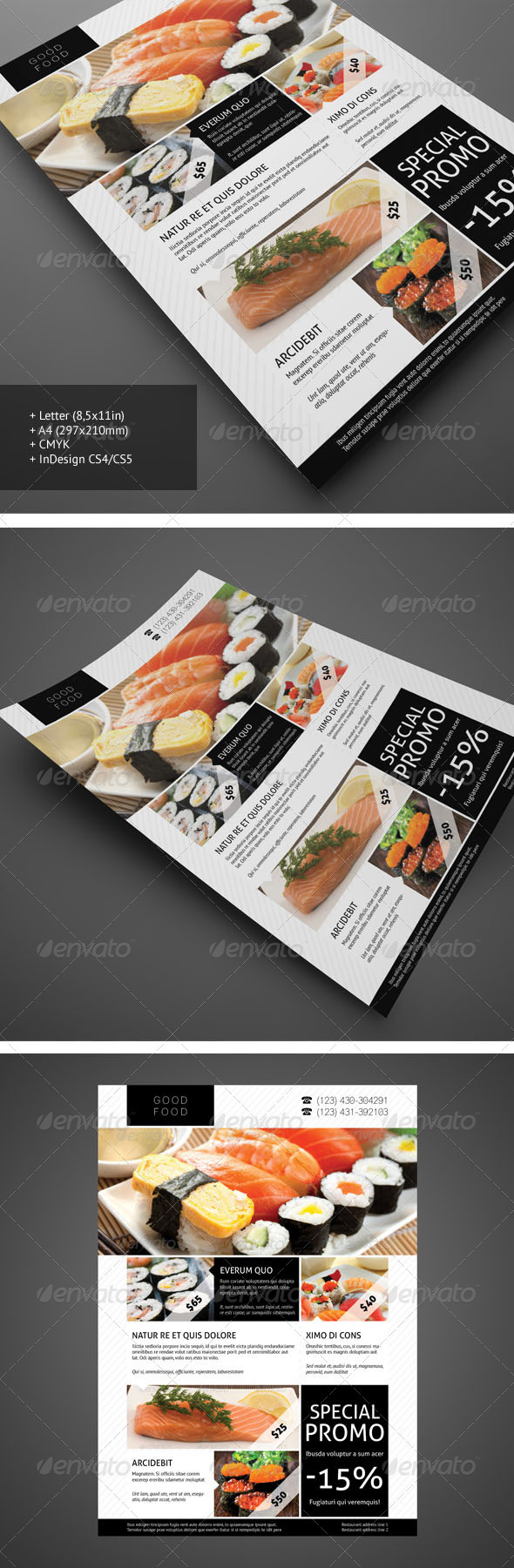 Restaurant Flyer 1 - Restaurant Flyers