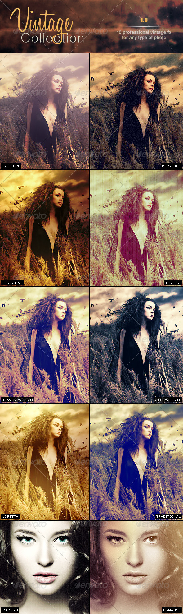 Vintage Pro Collection Photo Effects | Vol 1.0 - Photo Effects Actions