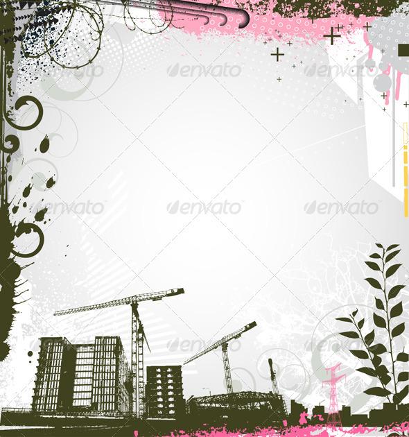 Urban background - Borders Decorative