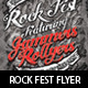 Rock Fest Typographic Flyer PSD Template