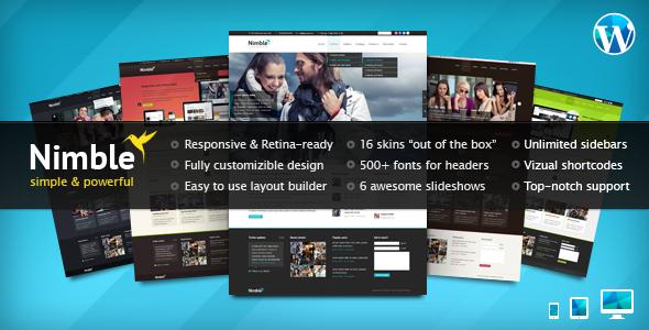 Nimble - Theme Multiuso de Retina para WordPress