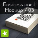 Business card mockup display - Smart template 03 - GraphicRiver Item for Sale
