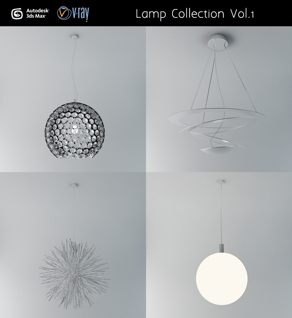 3DOcean Ceiling lamp Collection Vol.1 3003860