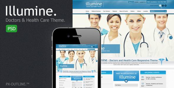 ThemeForest Illumine Doctors & Health Care Theme PSD 2969130