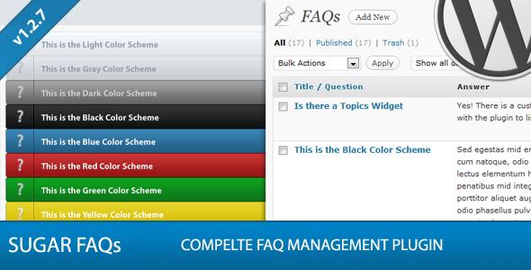 CodeCanyon Sugar FAQs WordPress FAQ Management Plugin 330624