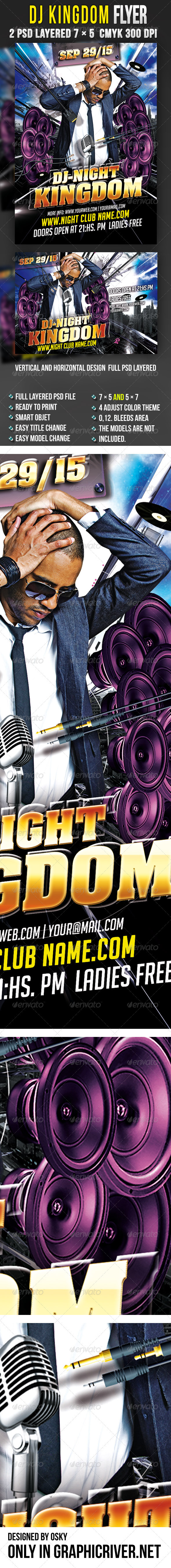 DJ Kingdom Flyer  - Clubs & Parties Events