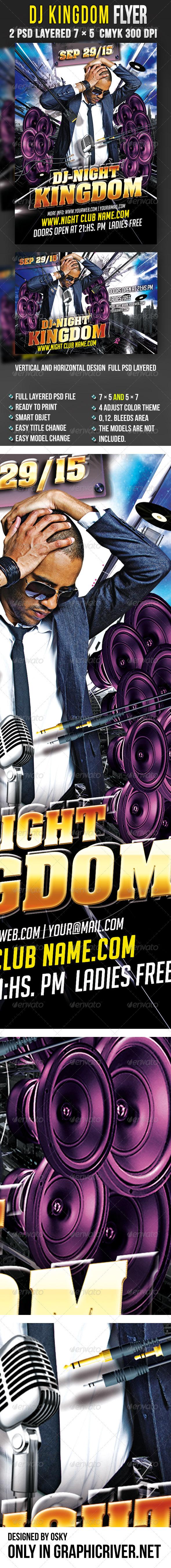 GraphicRiver DJ Kingdom Flyer 2997672