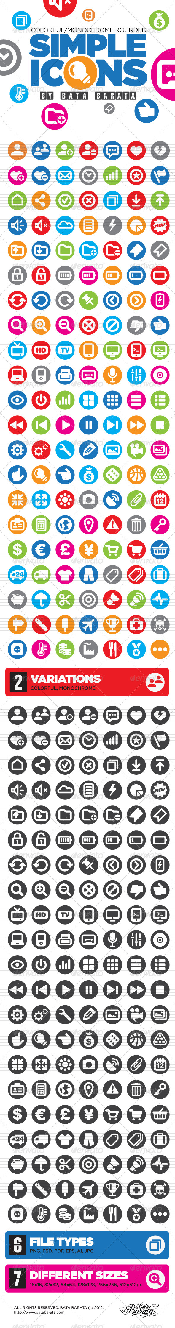 GraphicRiver Simple Icons 3010757