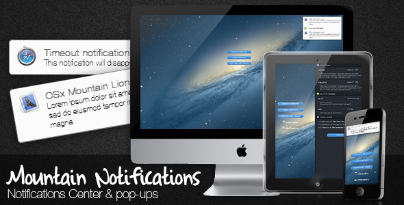 Mountain Notifications Responsive - CodeCanyon Item for Sale