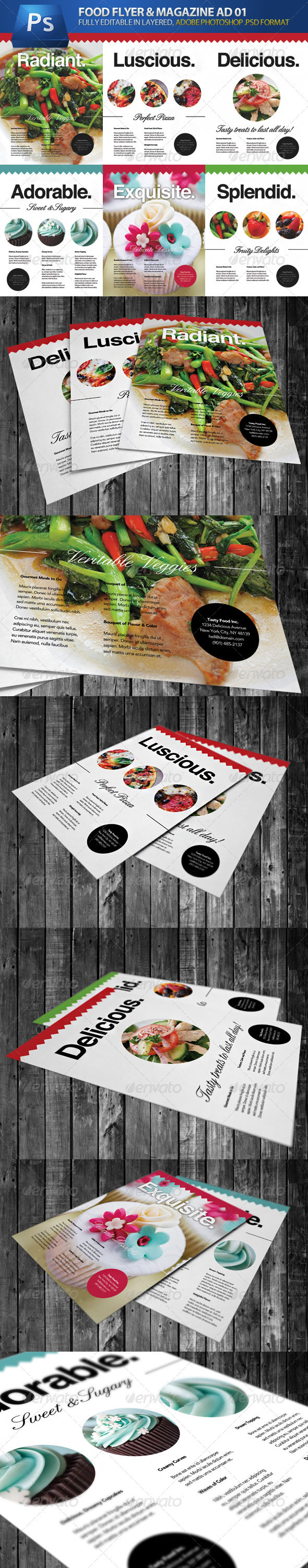 Food & Cooking Flyer & Magazine Adverts