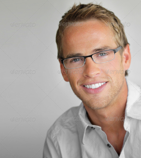 Glasses man - Stock Photo - Images