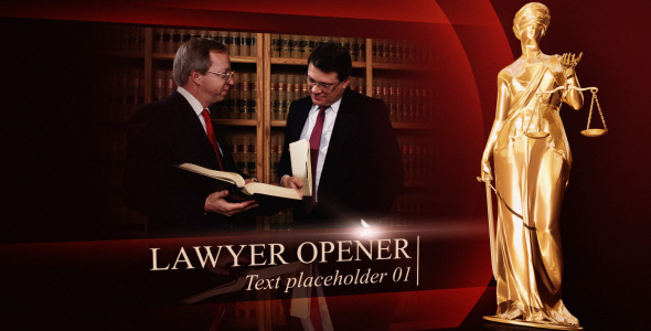 After Effects Project - VideoHive Lawyer opener 3011494