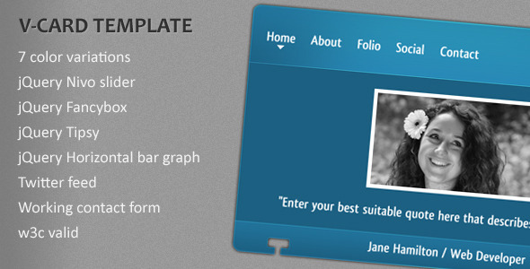 ThemeForest V-card Template 309050