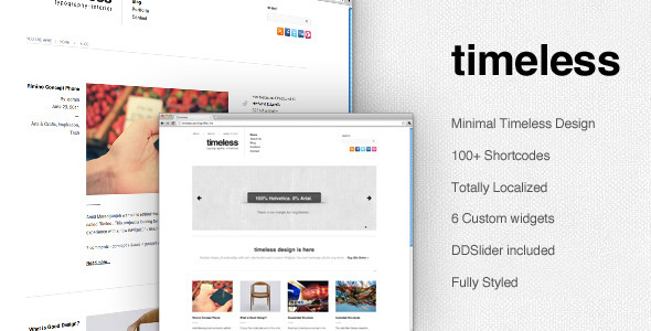 ThemeForest timeless Minimal Typographic WordPress Theme 309106