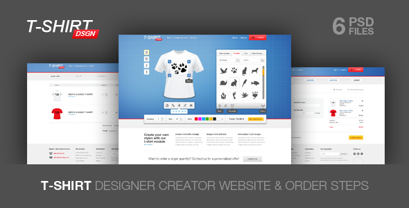 T Shirt Designer Creator and Shop Module - Fashion Retail