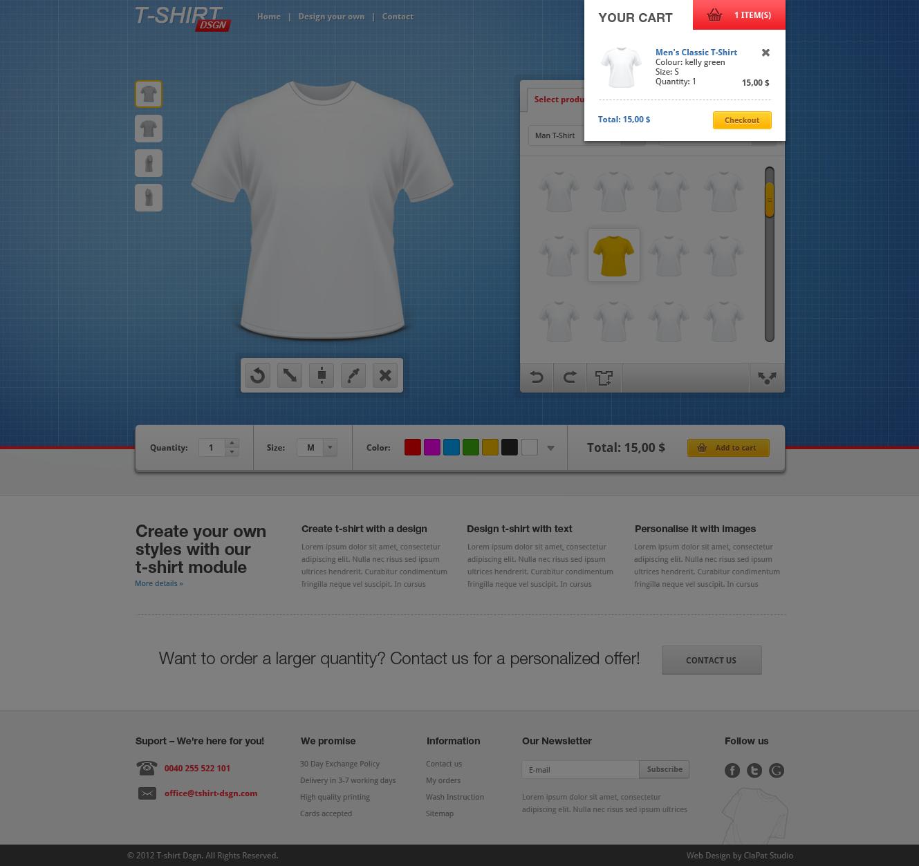 Joomla tshirt design - T Shirt Designer Creator