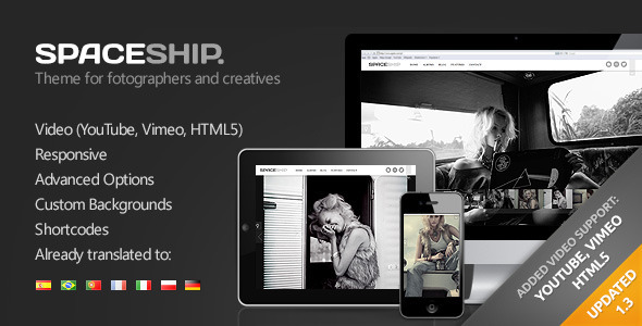 ThemeForest Spaceship Minimalist Photography Portfolio Theme 2795584