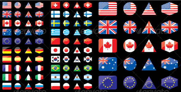 GraphicRiver Shaped flags 106831