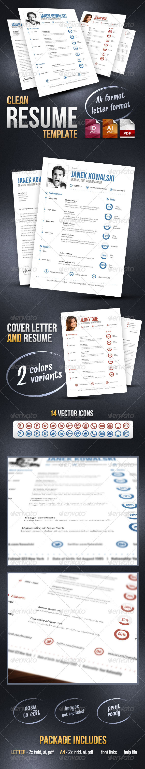 GraphicRiver Clean Resume Template 3003312