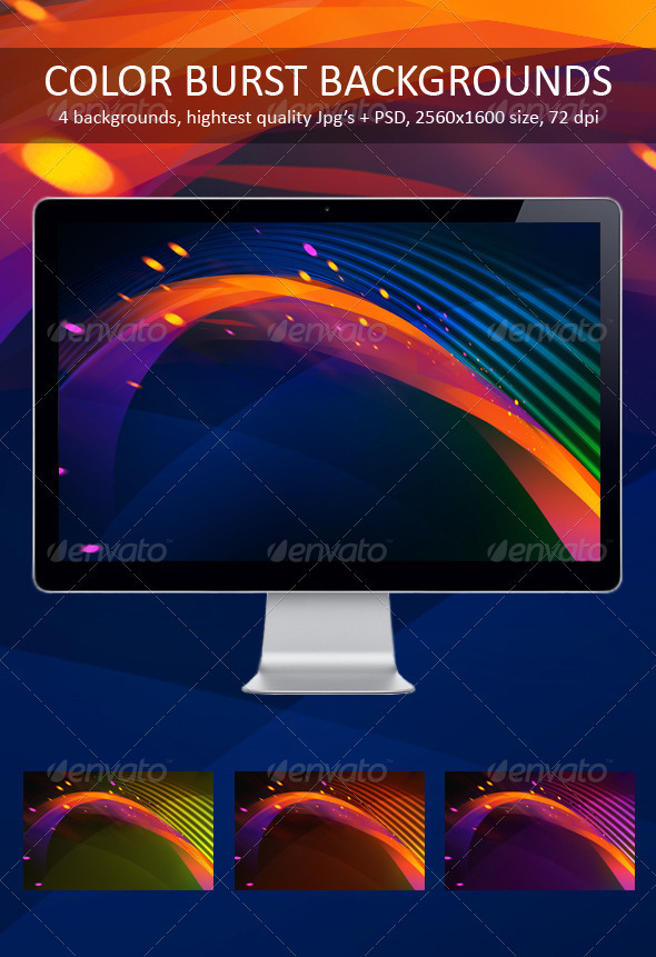 GraphicRiver Color Burst Backgrounds 309248