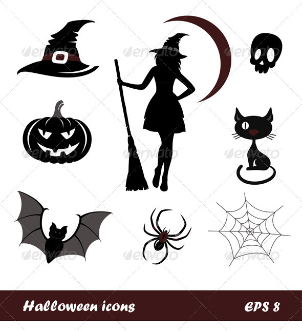 Halloween Icons And Emblems
